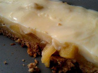 ovesný koláč s pudinkem
