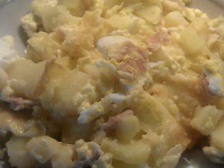 francouzské brambory se smetanou