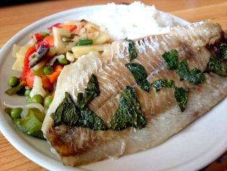 pečená treska se zeleninou