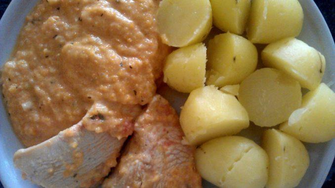 pečené krůtí maso se zeleninou