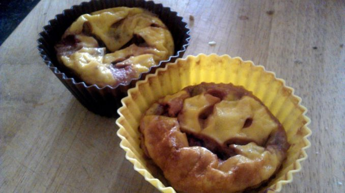 tvarohové muffiny s pudinkem