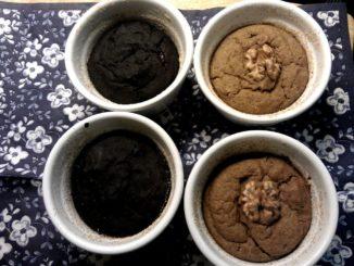 ořechové suflé s jablečným pyré