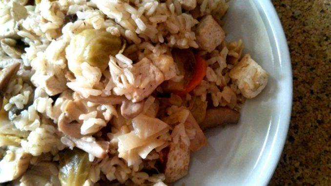žampionové rizoto s tofu