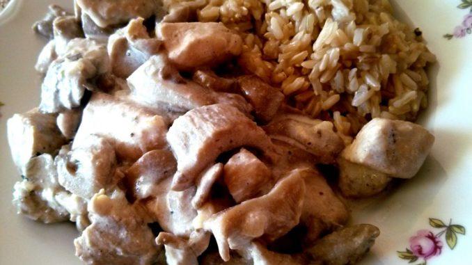 kuřecí maso s hlívou ústřičnou