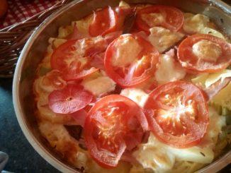 rajčatová frittata s pórkem