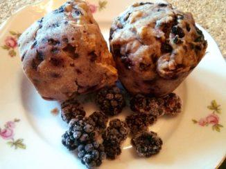 ostružinové muffiny s ricottou