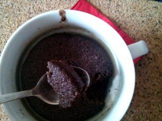 brownies mugcake - koláček