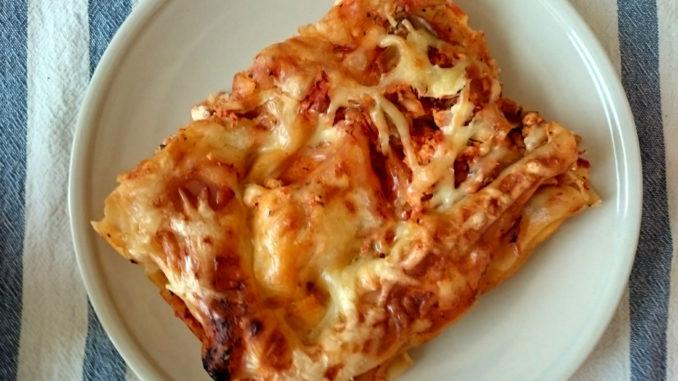 lasagne s kuřecím masem