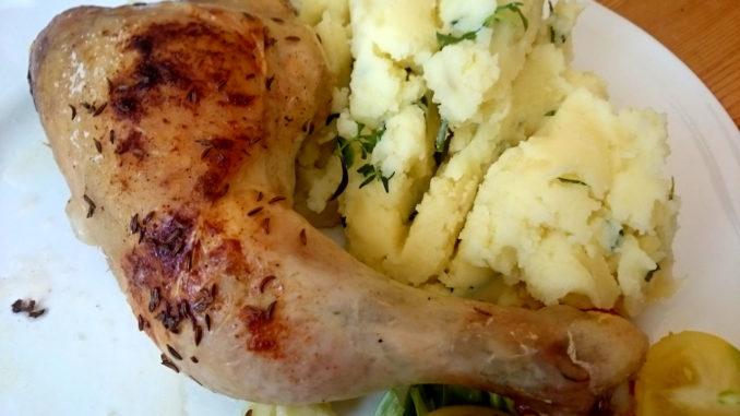 pečená kuřecí stehna z trouby