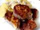 zapečené vepřové maso s bramborami